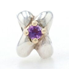 Pandora Interlocking Love Knot Charm Sterling & 14k Gold Authentic 790371AM Retd