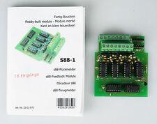 TAMS S88-1 Rückmeldemodul, 16 Eingänge, mit Betriebsanleitung