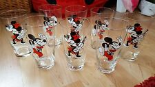 """Set of 8 Vintage Russian Walt Disney drinking glasses """"Mickey&Minnie Mouse"""""""