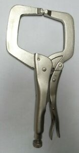Atd Tools Atd-15111 11 In. Locking C-Clamp Pliers with Regular Tips - Steel