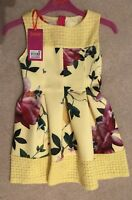 Ted Baker Girls Yellow Floral Dress Age 4 (3-4) NEW with Tags