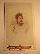 Aquisgrana-Josefine Dubbel - 1893 come giovane donna-Portrait/CDV
