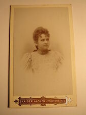 Aachen - Josefine Dubbel - 1893 als junge Frau - Portrait / CDV