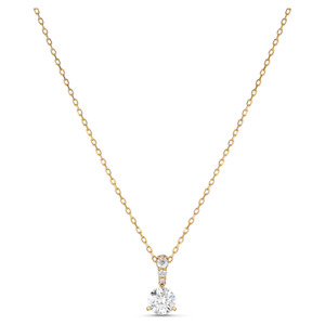 SWAROVSKI Necklaces Gold plated Crystal  Solitaire Pendant new women's
