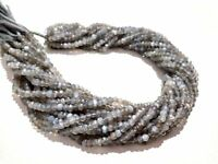 """1 Strand Natural Grey Moonstone Rondelle Faceted 3.5-4mm,13""""inch Gemstone Beads"""