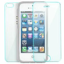 GLAS + Aluminium Bumper für Apple iPhone SE 5 s Schutz Hülle Handy Tasche Case S