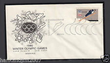 Winter Olympics 1980 Usps Commemorative Envelope & Stamp Intervale Station