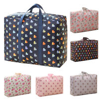AM_ EG_ LARGE FLORAL ZIPPED CLOTHES QUILT BEDDING LAUNDRY SHOPPING STORAGE TOTE