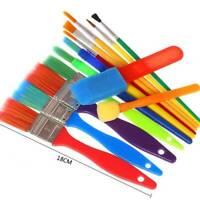 15Pcs Kids Paint Brushes Sponge Painting Brush Tool Set for Children Toddlers S