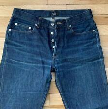 A.P.C. APC Rescue Selvedge Denim Dark Blue Jeans Size 31 x 34 Japan