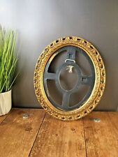 LARGE VINTAGE ORNATE OVAL GOLD GILT PLASTIC PICTURE PHOTO FRAME - FRENCH ROCOCO