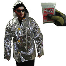 Lightweight Reflective Survival Jacket - Reflects Heat for Emergency & Survival