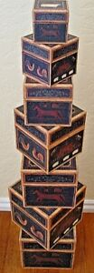 NEW Bob's Boxes (Farmland) 7 Piece Gift Nesting Boxes