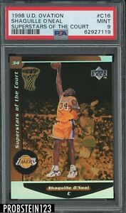 1998 UD Ovation Superstars Of The Court Shaquille O'Neal Lakers HOF PSA 9 MINT