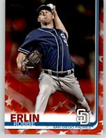 2019 Topps Series 2 ROBBIE ERLIN Independence Day /76 Padres #626