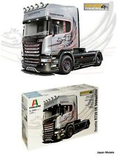 SCANIA R730 V8 Streamline Silver Griffin Italeri Show Trucks 3906 1/24 Model Kit