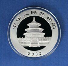 2002 China 1oz Silver Panda 10 Yuan coin in Capsule with COA
