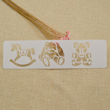 Spray Painted Bear Drawing Hobbyhorse Child Template Stencils Scrapbooking Tool