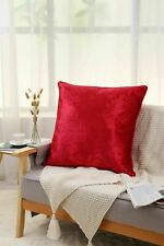 "Crushed Velvet Cushion Covers Luxury Plain Cushion Covers 18x18"", 24x24"""