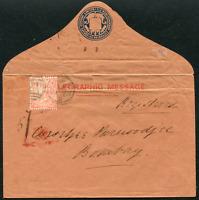 MALTA: (21134) GB used Malta to India Telegraphic cover
