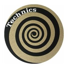 Pair Anti-static Wipes Felts Record Player Slipmats Technics Twin Set Spiral