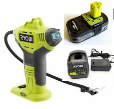 Ryobi 18V Portable Air Compressor Tire Digital Inflator With Battery &Charger