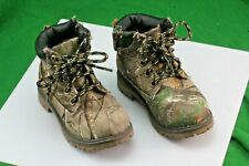 Faded Glory Forest Camo Kids Hiking Boots. Youth Size 7.
