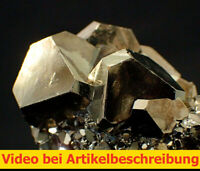 6193 Pyrit Oktaeder mit Würfel 360 Grad Stück 4*3*3 cm Huanzala Peru MOVIE