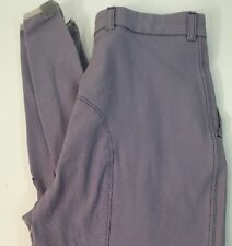 Kentucky Knee Patch Pleated Front Lavender Gray Breeches Women's 26 L New