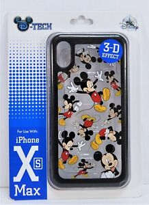 Disney Parks Exclusive Mickey 3-D Effect Apple Iphone XS Max Cellphone Case NEW