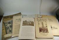 Vintage 1879-1950 Paper Ephemera Booklet Lot Brochure Lot 8 PCS