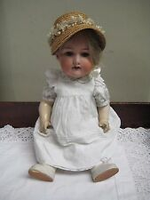 "Antique 17"" Armand Marseille Doll Model 390 Open/close Brown Eyes Open Mouth"
