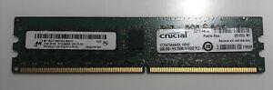 2GB Crucial CT25672AA80EA.18FZ PC2-6400E DDR2 240PIN 2Rx8 DIMM ECC Server Memory