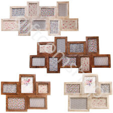 New Multi Photo Collage Wall Hanging Wood Picture Frames Vintage Home Decor