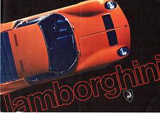 Lamborghini 1970-71 UK Market Foldout Sales Brochure Miura Jarama Espada