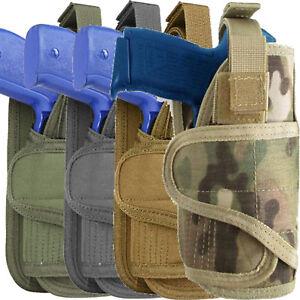 Tactical Gun Holster MOLLE Pistol Firearm Army Camo Military Modular Belt Waist