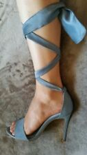 NEXT Suede Stiletto Strappy, Ankle Straps Heels for Women