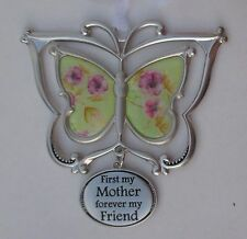 PD first my mother forever friend SPINNING 3d BUTTERFLY ORNAMENT car charm Ganz