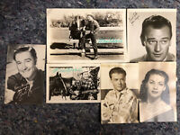 Lot Of Six Vintage Movie Star's Photos - Two Real Signatures - Monte Hale