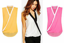 Women's Semi Fitted Polyester No Pattern V Neck Tops & Shirts