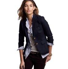 NWT J.Crew School Boy Blazer Jacket Woman 14 Navy Blue #03171 Fitted JCrew $198z