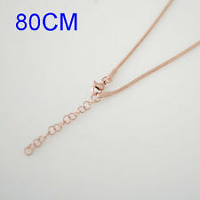 """Snap-It Rose Gold 31"""" w/3"""" Extender Chain For Snap It Pendants"""