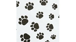 """Tissue Paper Dog Paw print Tissue paper Gift wrapping 5 sheets 30"""" x 20"""" EA. BAG"""