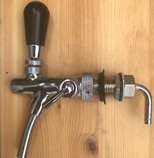 Steel Beer Tap Faucet Flow Adjuster Self Closing Draft Shank Kegerator Corny Keg