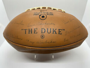 1967 The Duke Vince Lombardi Bart Starr & Packers Team Signed Leather Football