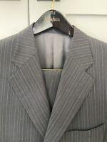 Mens Ermenegildo Zegna Charcoal Grey Pinstripe Suite - 42L