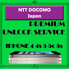 Docomo NTT Japan Official Factory Unlock Service iPhone 4s 5 5c 5s ALL IMEI