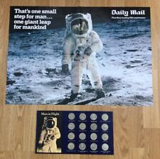 Man in Flight coins and anniversary poster