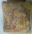 Vintage Tapestry Bed or Sofa PILLOW ~ Victorian Arabian Market Dancer Scenic