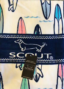 SCOUT Bag Brand BEACH TOWEL SURF BOARDS 100% cotton COLORFUL Brand NWT